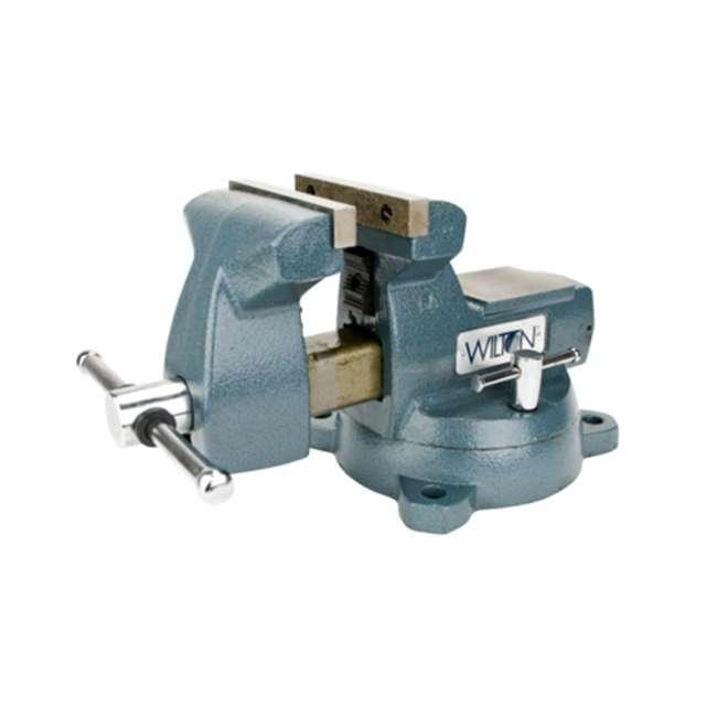 WIL-21800 Wilton Mechanics Vise 8 Inch Jaw with Swivel Base 2
