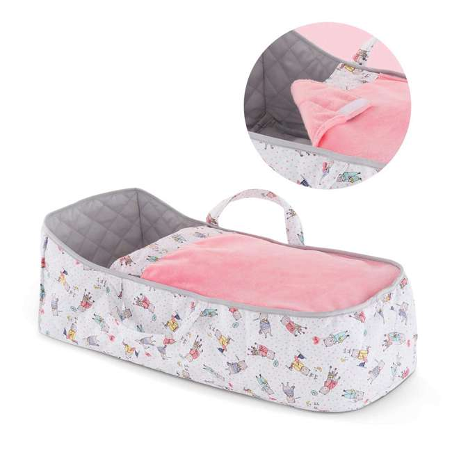 140250 Corolle Mon Grand Poupon Carry Travel Bed Accessory for Large 17 Inch Baby Dolls 1