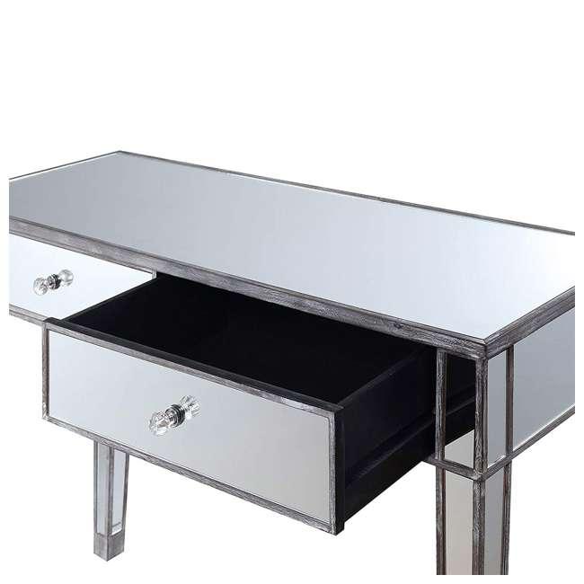 U12-178 Convenience Concepts U12-178 Gold Coast Mirrored Desk Vanity, Weathered Gray 1