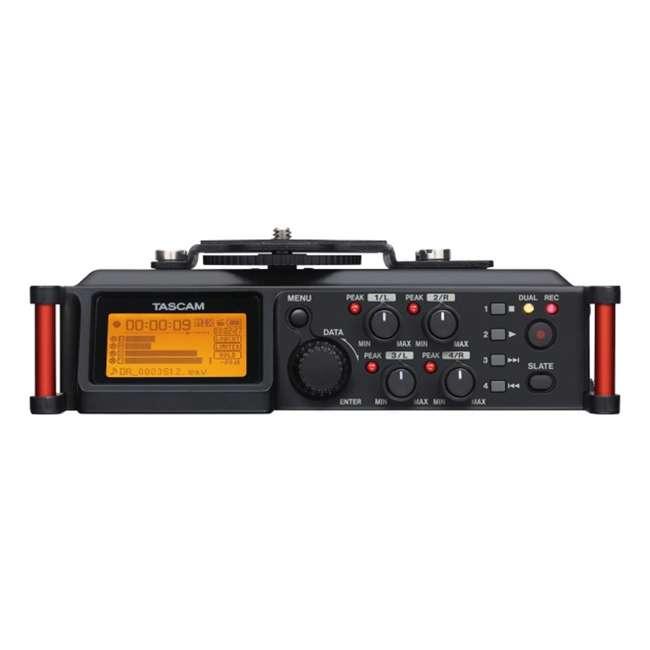 DR-70D + TH02-B Tascam 4-track PCM Recorder for DSLR Video Production + Home & Studio Headphones 3