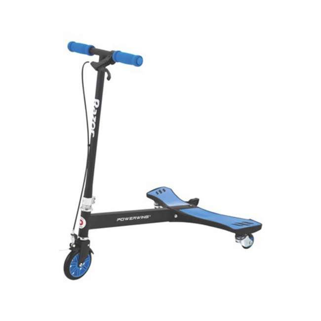 20036003 Razor PowerWing 3 Wheel Dual Inclined Caster Powered Side to Side Scooter, Blue (2 Pack) 1