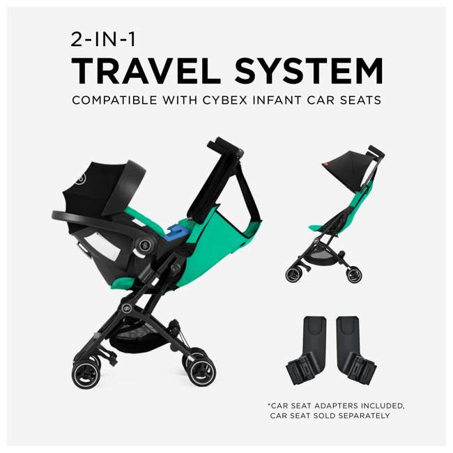 619000529 GB Pockit Plus Lightweight Folding All Terrain Infant Stroller, Velvet Black 3