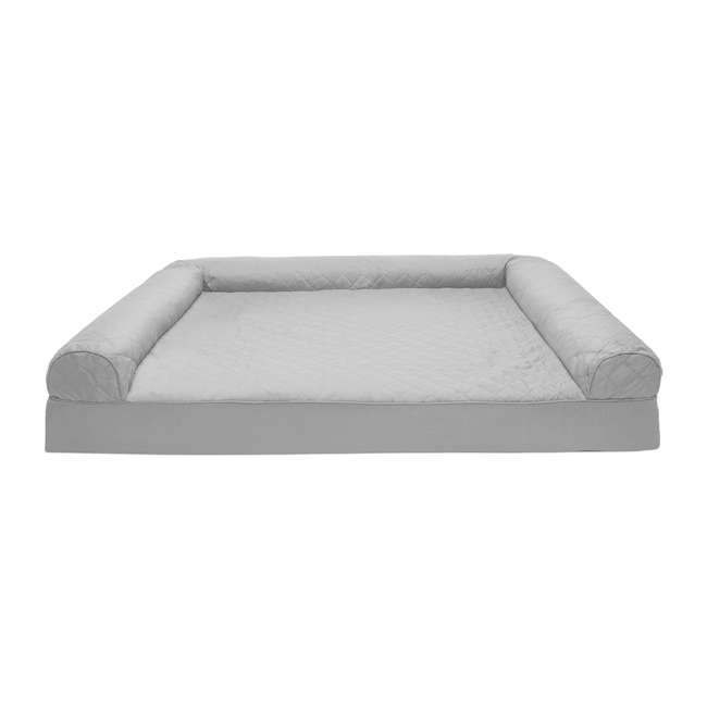45601017 Furhaven 45601017 Jumbo Plus Quilted Orthopedic Foam Sofa Pet Bed, Silver Gray 1