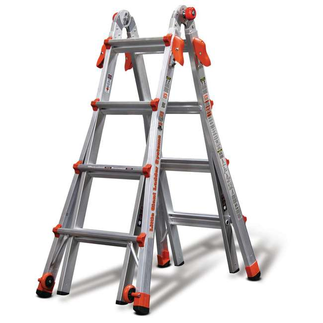 14317-001 + 15040-001 Little Giant Ladder Systems 17-Foot Aluminum Multi-Position Ladder & Tool Pouch 3