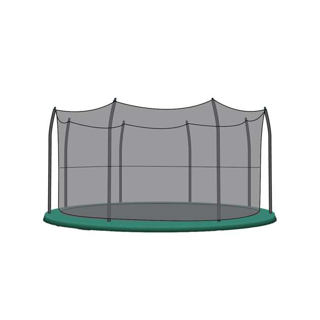 N1-1528100000-U-B SkyBound Net for 15 Ft Trampoline with 8 Straight-Curved Enclosure Poles (Used) 1