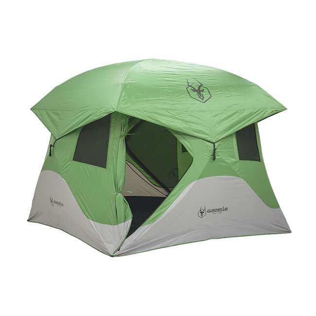 GAZL-30400-U-B Gazelle Tents T4 Pop-Up Hub 4-Person Outdoor Camping Tent, Green (Used) 6