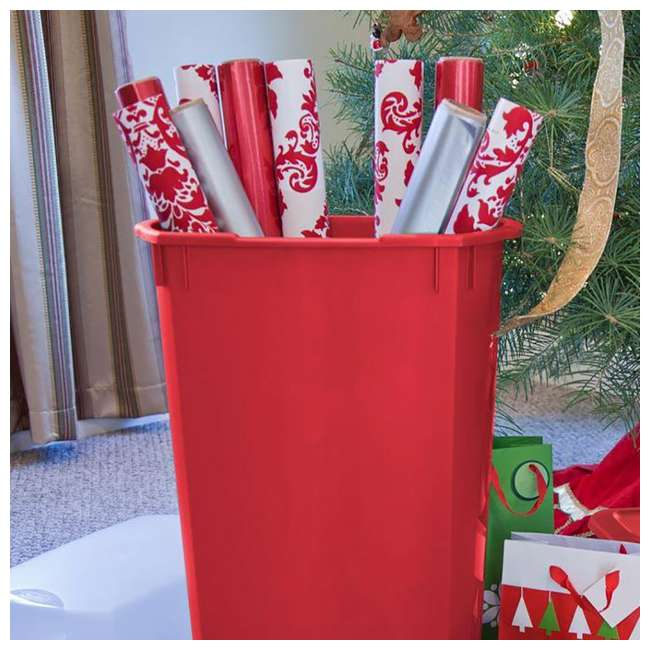 """4 x 19716604-U-A 4-pk Sterilite 30"""" Holiday Gift Wrapping Paper Storage Box with Lid (Open Box) 5"""