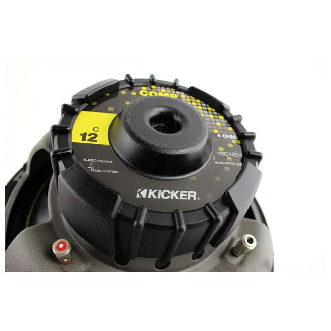 Kicker C12 12-Inch Dvc 4-Ohm Comp Subwoofers With Rockford