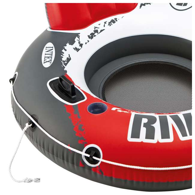 "6 x 56825EP-U-A Intex River Run 1 53"" Water Tube Lake Pool Ocean Raft, Red  (Open Box) (6 Pack) 1"