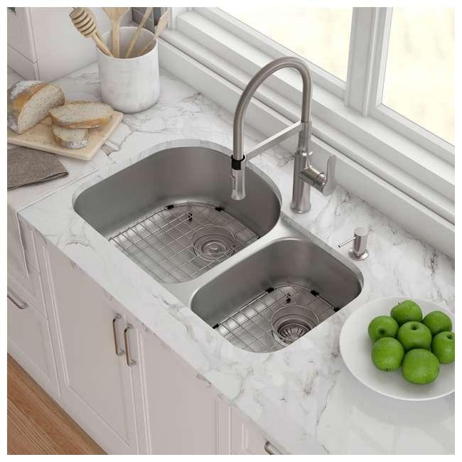 KBU23E-OB Kraus Outlast 33-Inch Stainless Steel Undermount Double Bowl Sink (Open Box) 1