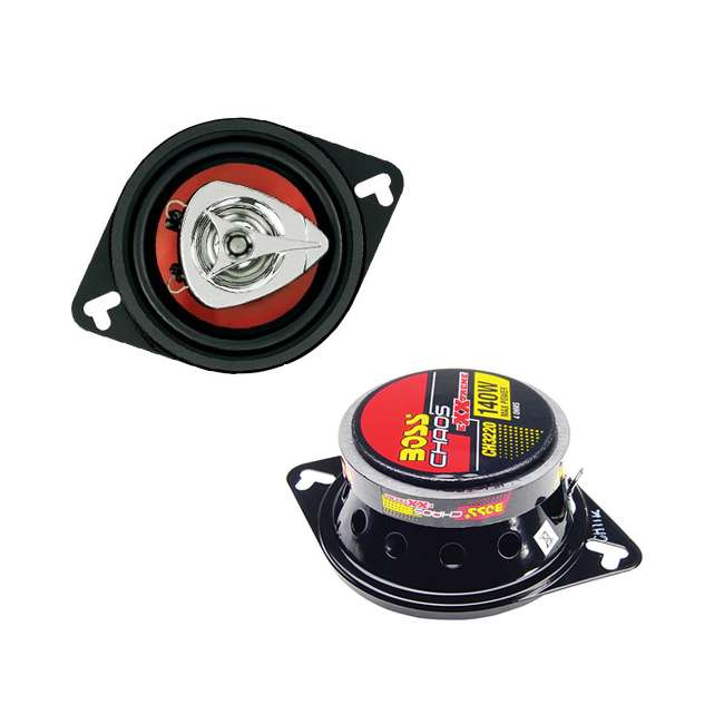 """CH3220 + CH4330 BOSS 3.5"""" 2-Way Set + 4""""x10"""" 3-Way Chaos Exxtreme Car Speakers 1"""