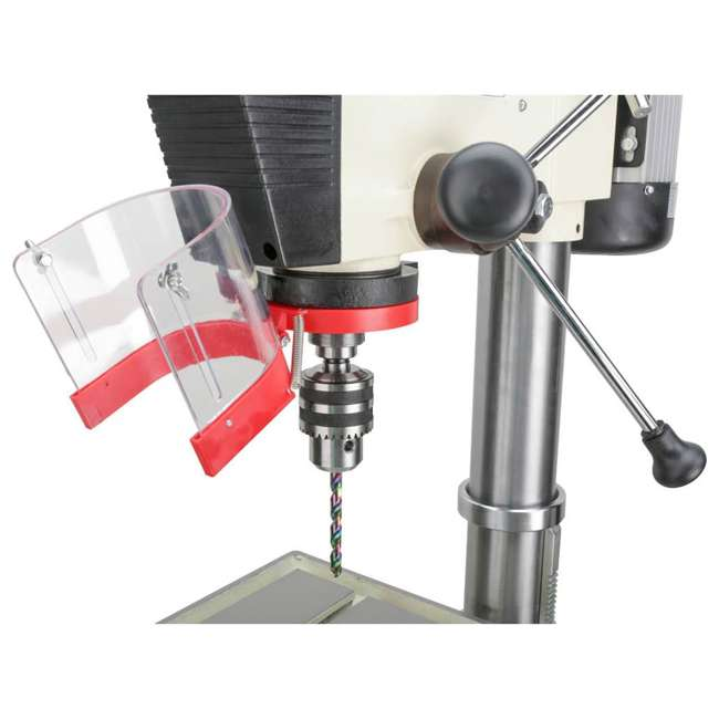 M1039 Shop Fox M1039 20 Inch 1.5 Horsepower Floor Drill Press with Work Light, White 4