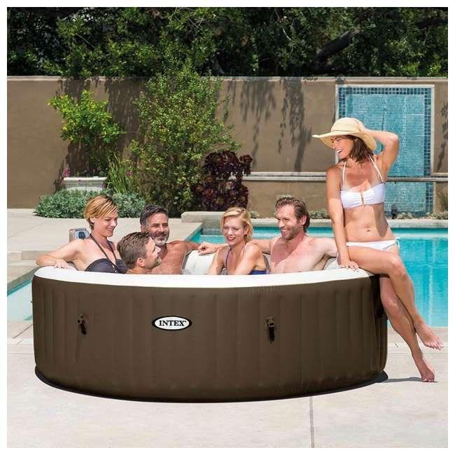 28407VM + 28500E + 2 x 28501E Intex PureSpa 6 Person Inflatable Hot Tub & Cup Holder & Headrest (2 Pack) 3