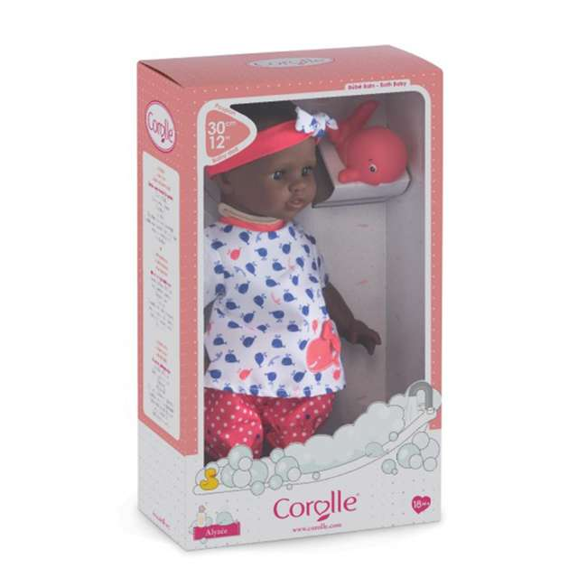 100120 Corolle Mon Premier Baby Bath Waterproof Vanilla Scented Alyzee Doll with Whale 3