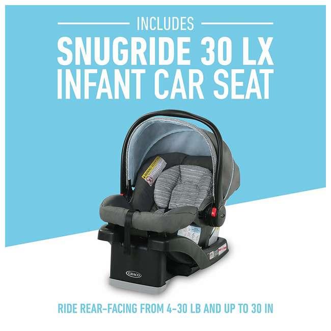 2082773 Graco FastAction SE Stroller w/ SnugRide 30 LX Infant Car Seat Travel System 1