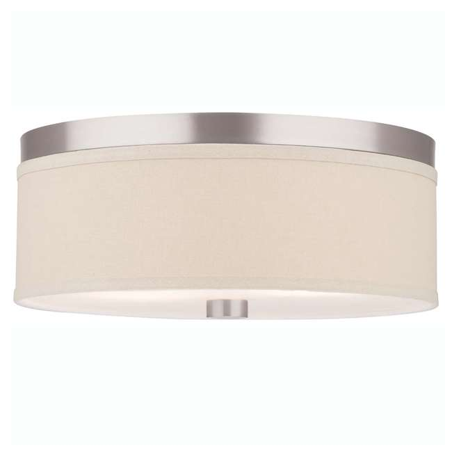 4 x PLC-F131836U Philips Forecast Lighting Embarcadero Flushmount, Satin Nickel (4 Pack) 1