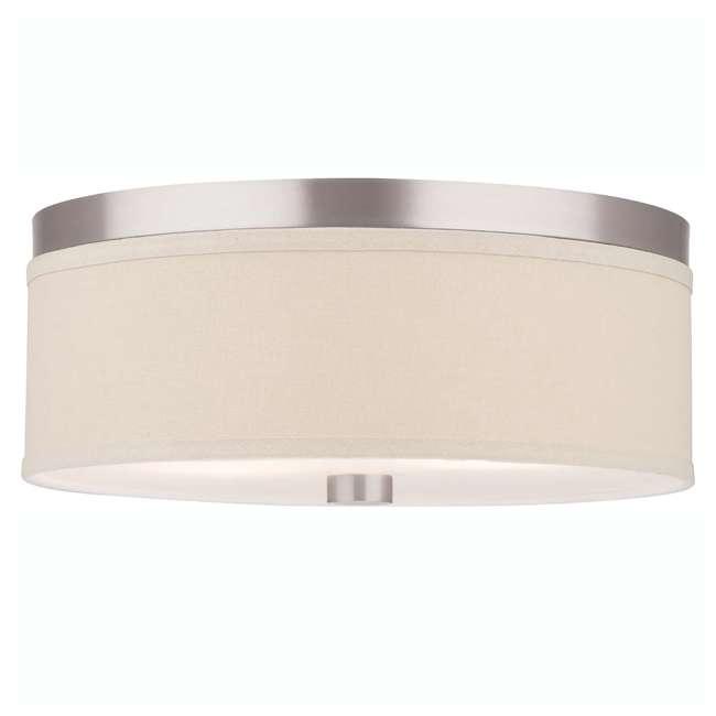 PLC-F131836U Philips Forecast Lighting Embarcadero Flushmount, Satin Nickel (2 Pack) 1