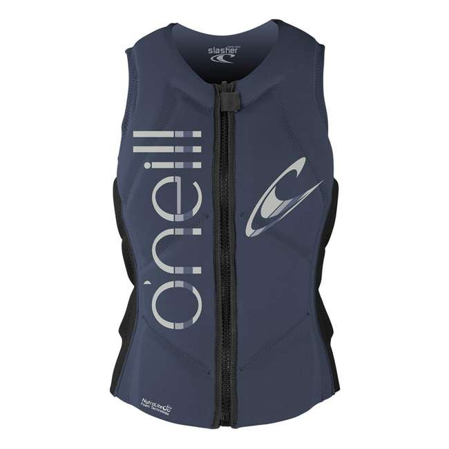 4531-ET7-12 O'Neill Womens Slasher Competition Waterskiing/Wakeboarding Vest, Size 8, Mist