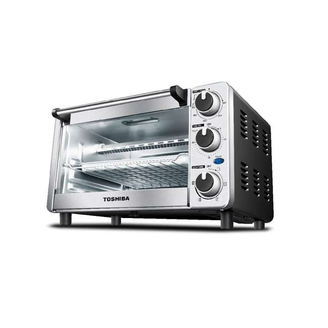 MC25CEY-SS Toshiba MC25CEY-SS 6 Slice Small Convection Pizza Toaster Oven, Stainless Steel 1