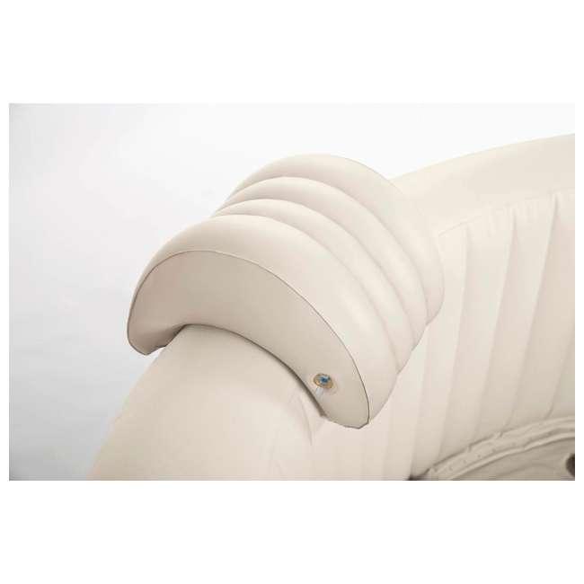 28403E + 28500E + 28501E Intex PureSpa 4-Person Inflatable Hot Tub with Drink Tray & Headrest  2