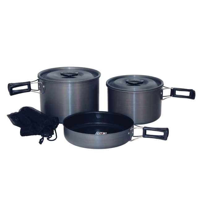 TXSPT13414 Texsport Trailblazer Black Ice Hard Anodized Cookware Set (2 Pack) 1