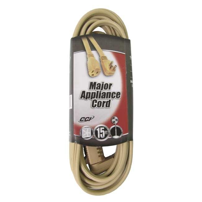 coleman cable 15 foot beige 14 gauge flat vinyl major appliance extension cord 035363323. Black Bedroom Furniture Sets. Home Design Ideas