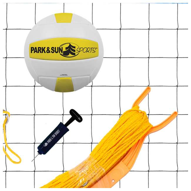 TP-179-WH-OB Park & Sun Sports Spectrum 179 Outdoor Volleyball Net Set (Open Box) 2