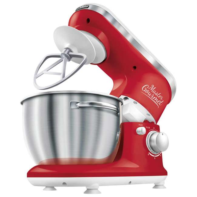 STM3624RD-NAA1 Sencor STM 3624RD 4.2 Quart 6 Speed Food Mixer with Stainless Steel Bowl, Red