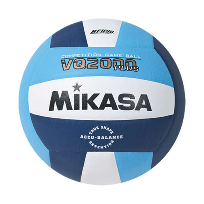 VQ2000-CNW Mikasa USA Size 5 Composite Volleyball, Light Blue and Blue