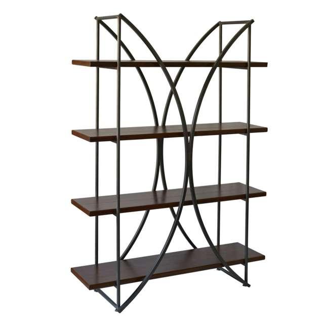 SC-SF24839 Abode 84 Elliptical Warehouse 4 Shelf Bookcase with Wood Shelves
