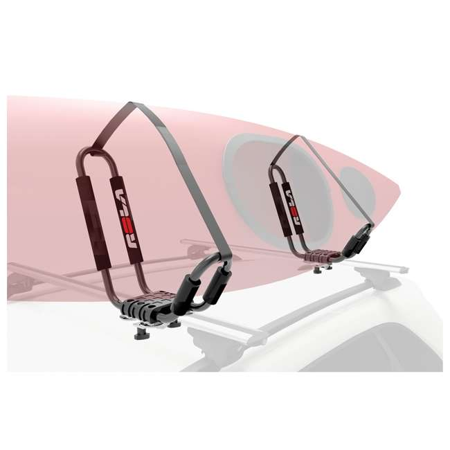 59912-U-C Rola J Rac J Style Rooftop Car Roof Rack Kayak Carrier w/ Foam Pads (For Parts) 4