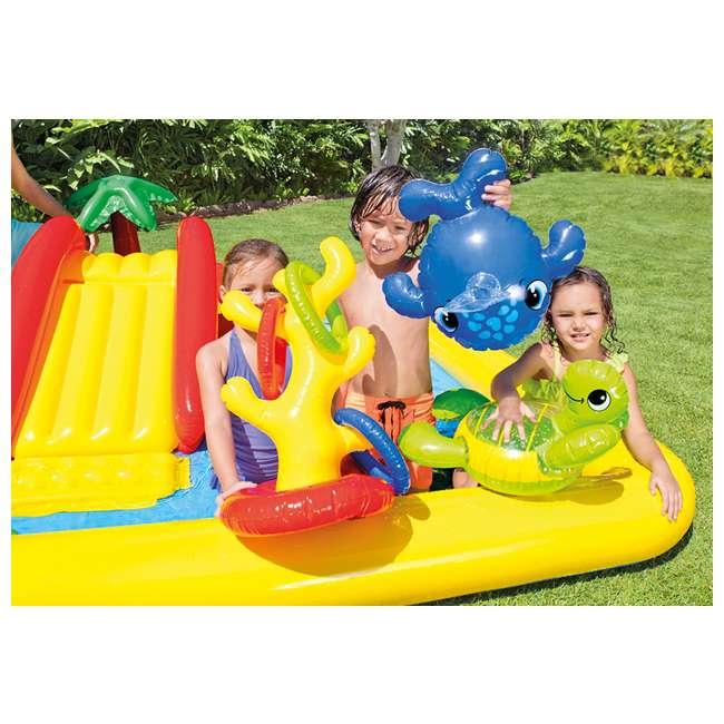 57454EP + 57453EP Intex Inflatable Ocean Kiddie Pool (2 Pack) & Intex Rainbow Ring Pool (2 Pack) 4