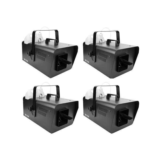 4 x SM-250 Chauvet DJ Snow Machine with Wired Remote (4 Pack)
