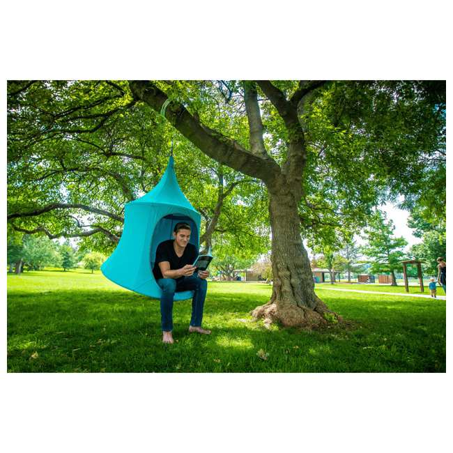 TP0500TC + TP9150 TreePod Lounger 5 Foot Tree Hanging Heavy Duty Canvas Daybed, Terracotta w/Bug Net  4
