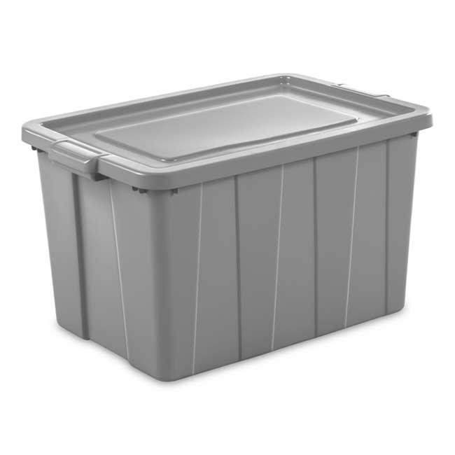 4 x 16796A04 Sterilite Tuff1 30 Gallon Plastic Storage Tote Container Bin w/ Lid (4 Pack) 1