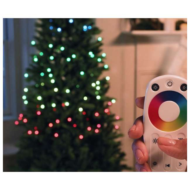 TG70CH119P00 Home Heritage 7' Color Blast Multiple Light Function Micro Dot LED Christmas Tree 2