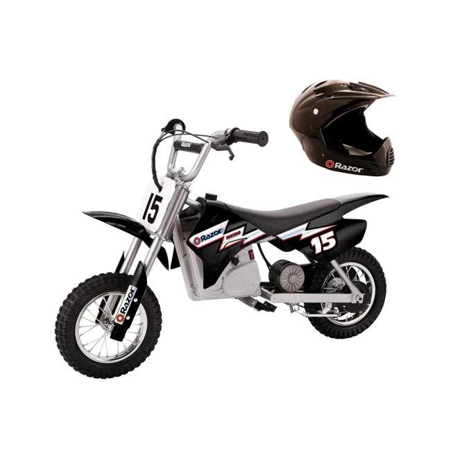 15128099 + 97775 Razor MX350 Dirt Rocket Bike with Helmet