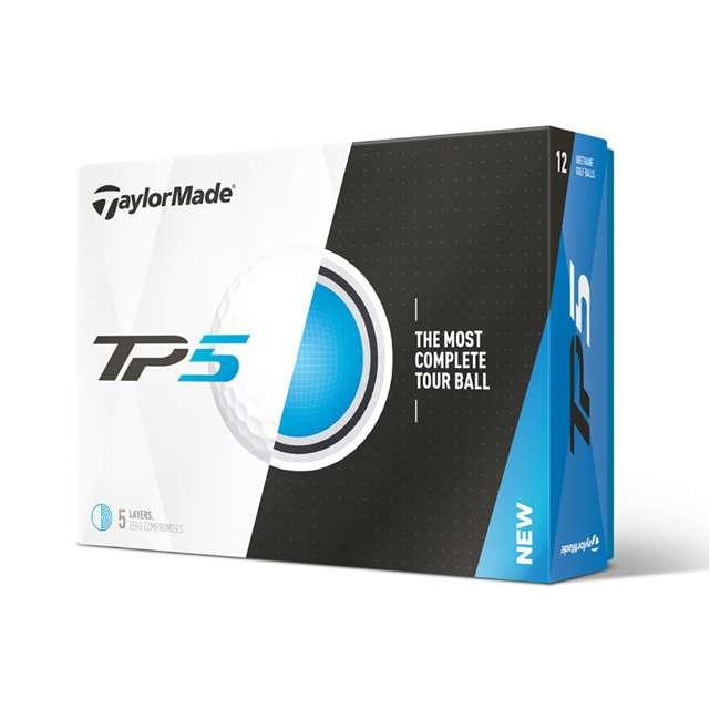 B1342401-TP5 TaylorMade TP5 Dual-Spin 5-Layer Distance Golf Balls, 1 Dozen 3