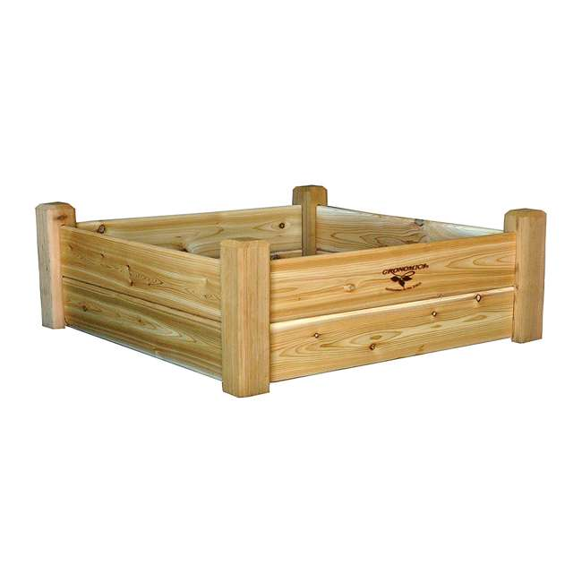 RGB 34-34 Gronomics Western Red Cedar Raised Garden Bed 34 x 34 x 13 Inches, Unfinished