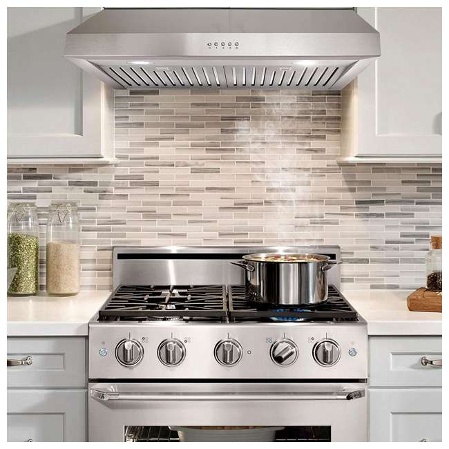 CSMO-UC30 Cosmo UC30 30-Inch Under-Cabinet Range Hood and Over Stove Vent Light, Silver 1