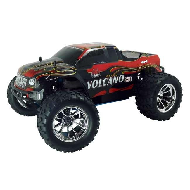 4 x VOLCANOS30-REDPU-88049-R Redcat Racing Volcano S30 Nitro RC Monster Truck (4 Pack) 2