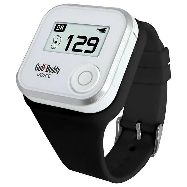 AIM-V10-RG + GB7-WRSTB-BLK GolfBuddy Aim V10 LCD Display Talking Visual Golf Green GPS + Silicon Wristband 2