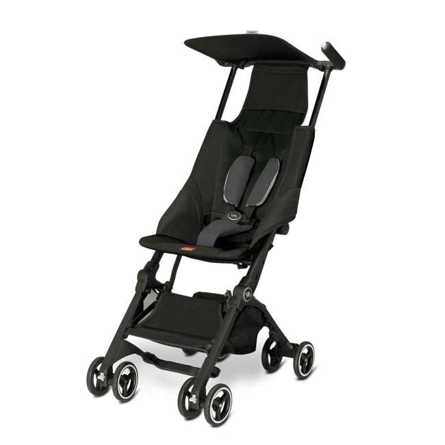 618000791 Pockit Record Collapsible Stroller, Black