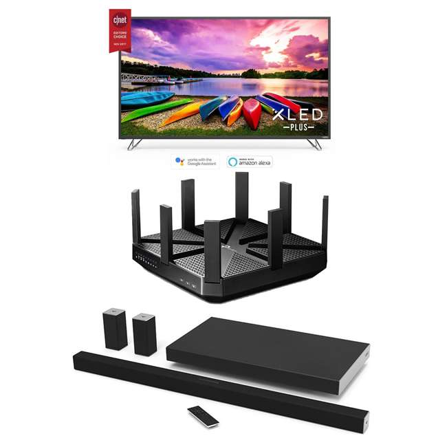 TPL-ARCHERC5400 + M55-E0-RB + SB4551-D5B-RB Vizio M Series TV, Sound Bar, & Router (Certified Refurbished)