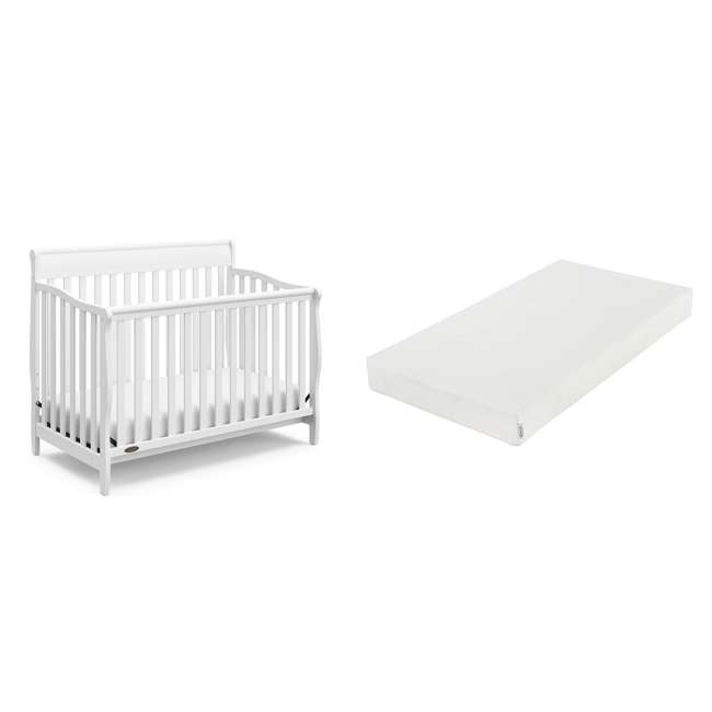 06711-300 + 04530-661 Graco Crib d Mattress & Graco Stanton 4-in-1 Convertible Crib
