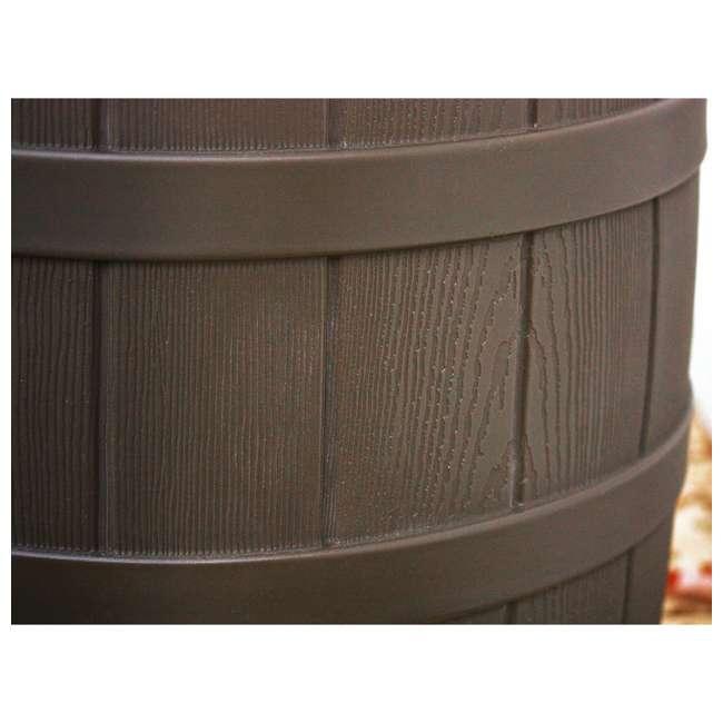 5 x RW50-OAK Good Ideas Rain Wizard 50 Gallon Plastic Rain Barrel with Brass Spigot (5 Pack) 3