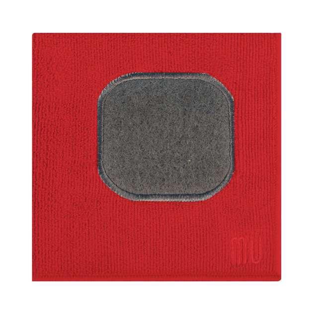 9345-0906 MUkitchen 4 Piece Kitchen Dish Cloth, Towel, and Oven Mitt Set, Red 4