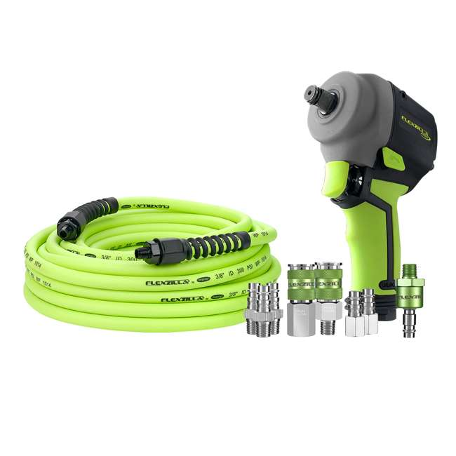 AT8505FZ Flexzilla AT8505FZ Pro Mini Impact Wrench Kit with Couplers, Plugs, and Fittings
