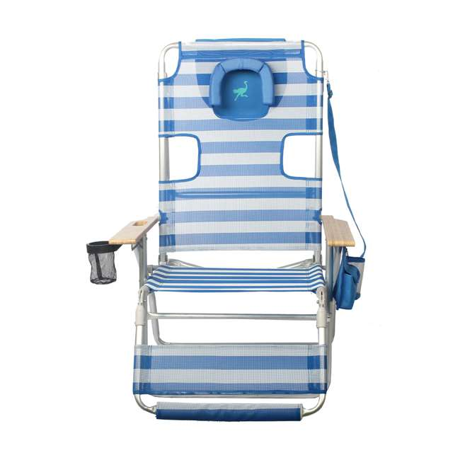 A3N1-2000S Ostrich 3-N-1 Altitude Outdoor Lounge Reclining Beach 16-Inch Height Chair, Blue 2