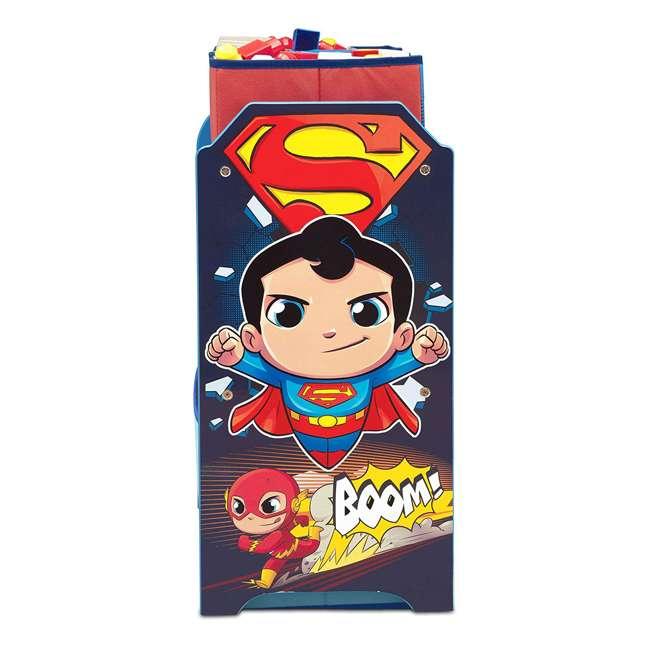 TB83438SP-1217 Delta Children DC Comics Super Friends Multi Toy Box Bin Wood Storage Organizer  4